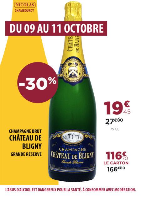 -30% sur le champage château de Bligny !